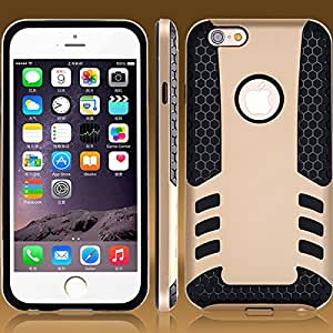2015 Dual Protection Rocket Case For iphone 6 4.7'' Hybrid Combo With Dual Layer Dirt/Shock Proof Cover For iphone 6 Plus 5.5'' --- Color:silver I 6 Plus