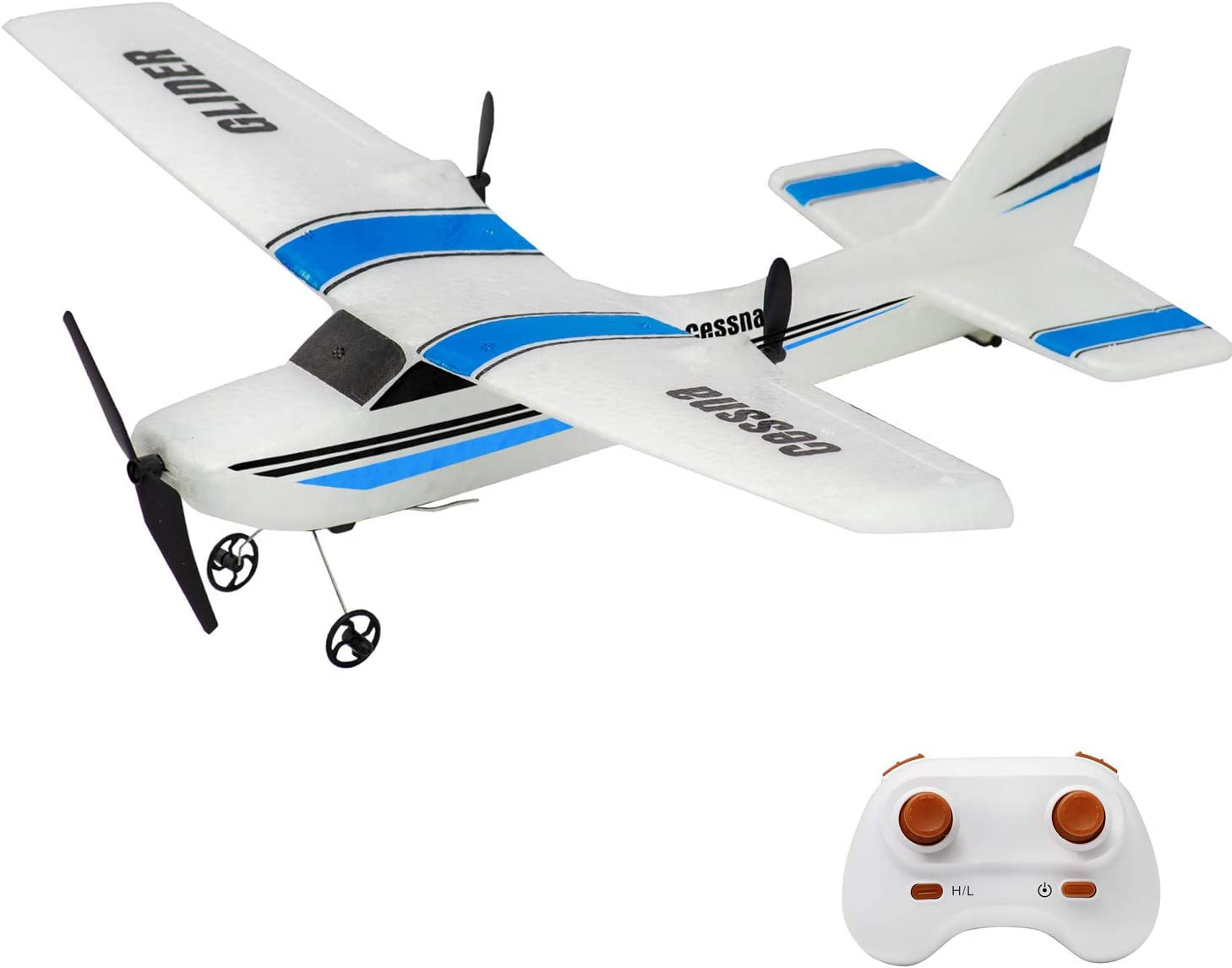 Landbow RC Plane, 2.4Ghz 2 Channels Remote Control Airplane Ready to Fly,Styrofoam RC Plane with 3-Axis Gyro,Stability Flight RC Aircraft for Kids Boys Beginner