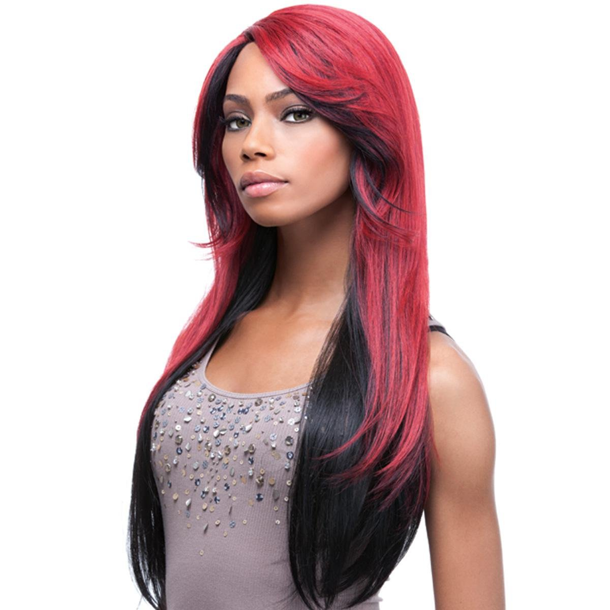 Sensationnel Synthetic Lace Front Wig Empress Edge Erin colour DD1BRED by Empress Lace Wig: Amazon.es: Belleza
