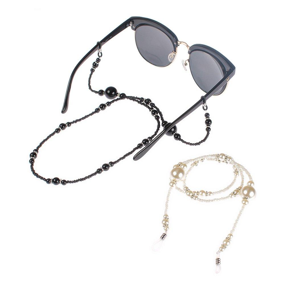 Soleebee 2 pezzi universali Corda per occhiali Perline acrilico Cordino per occhiali/Corda per occhiali/Occhiali da sole Cordino per collo/portaocchiali