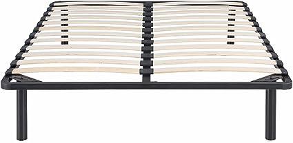 IKAYAA MBD041 - Somier de Cama Metálico Moderno 180x200,MAX.200kg,Color Negro