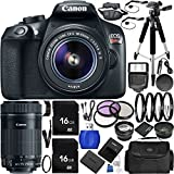 Canon EOS Rebel T6 16 MP DSLR Camera Bundle with Accessories (31 Items)