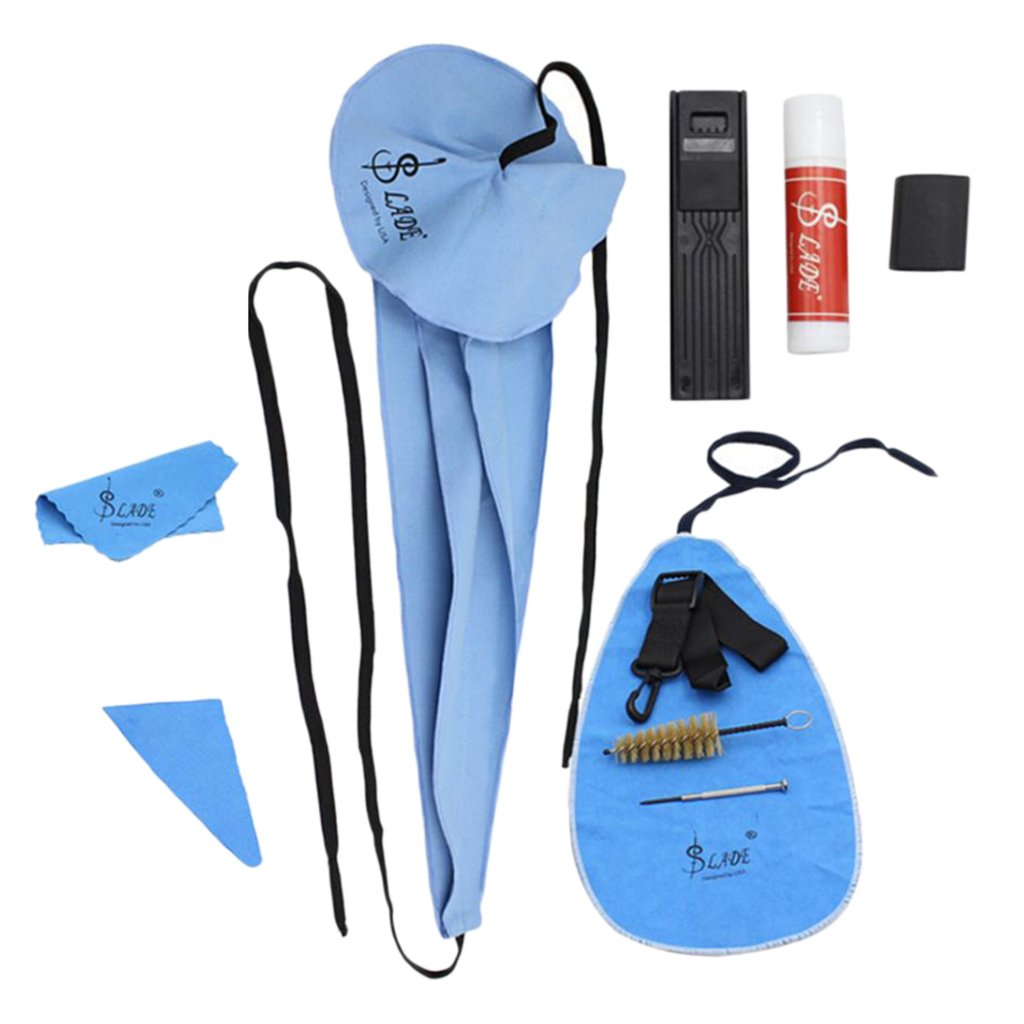 Dovewill Sax Saxophone Care Cleaning Tool DIY Kit Woodwind Instruments Belt Cork Grease Cloth