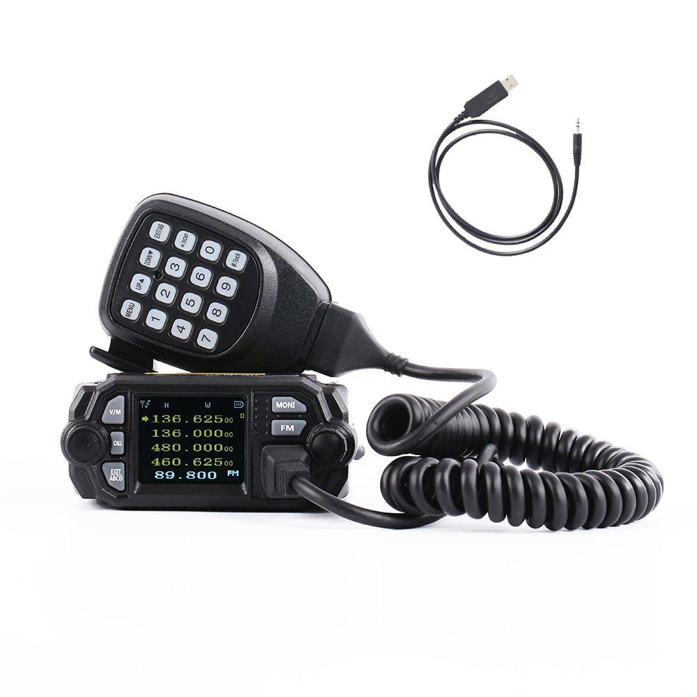 HESENATE MT-225D x QYT(Gen.2 KT-8900D) Mini Mobile Transceiver 25/20-Watt Dual Band VHF: 136-174/UHF: 400-520MHz Base Station Two Way Radio Amateur (HAM)