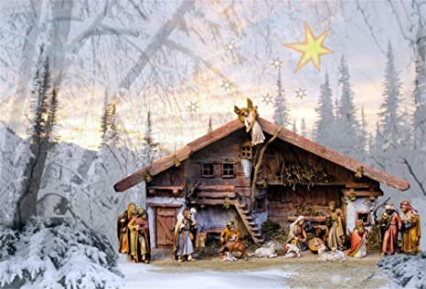 Christmas Stable Background.Amazon Com Lfeey 10x7ft Nativity Scene Background Angel