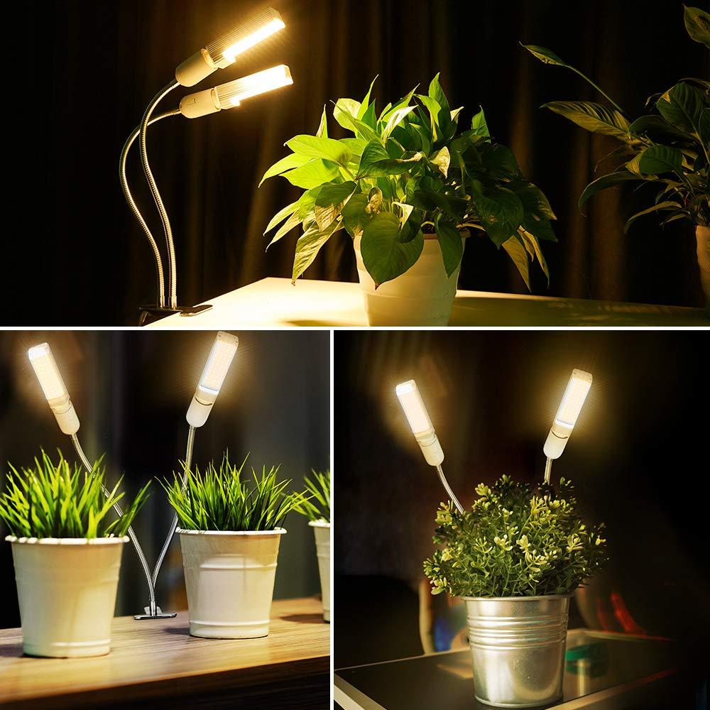 6 dimmbaren Helligkeiten Grow Lampe Optimale LED Schreibtischlampe f/ür Zimmerpflanzen Anten LED Pflanzenlampe 30W 60LEDs mit Zeitschaltuhr Vollspektrum Pflanzenlicht Gew/ächshaus Gartenarbeit