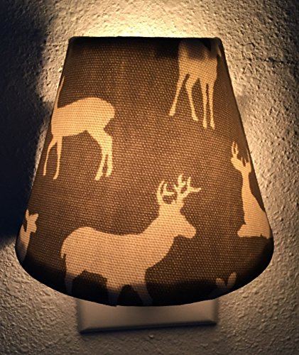 Woodland Deer Plug In Night Light / Nursery Decor / Baby Shower Gift / Home Decor / Kid's Room / Lighting / Hallway Light / Housewarming / Elk / Antlers