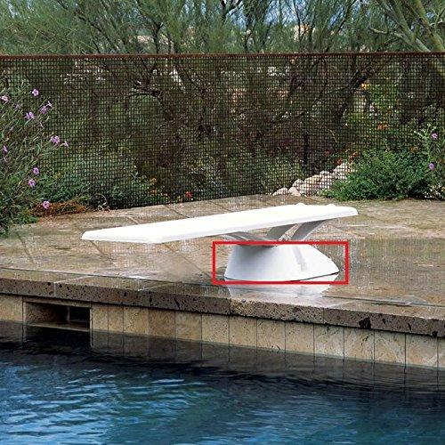 White Fiberglass Diving Base (Interfab EDGEBASE 6' - 8' Edge Base Diving - White)