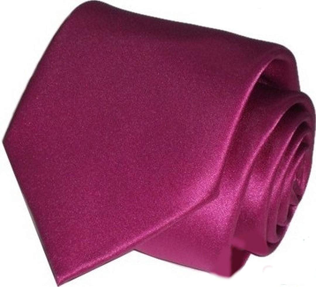 Top Tie Cravatta sartoriale tinta unita blu rossa grigia nera verde marrone personalizzata con iniziali ricamate 100/% MADE IN iTALY