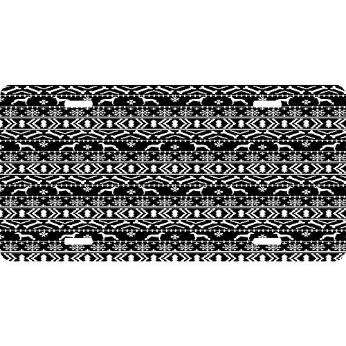 Italian Greyhound Fair Isle Christmas Snowflakes Dog Breed Silhouette Pattern Custom Personalized Novelty Front License Plate Decorative Vanity Car Tag 4 Holes, 6