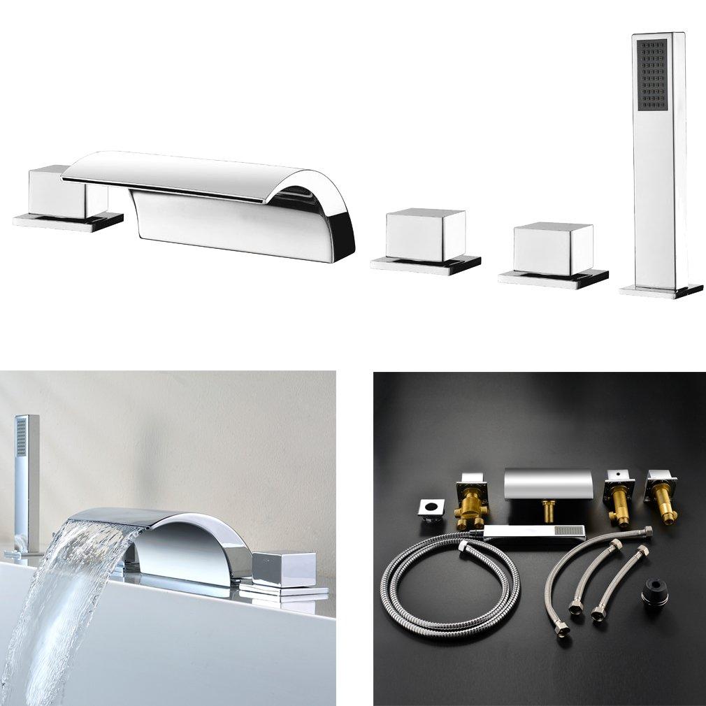 Armaturen badewanne  amzdeal Wannenrandarmatur Wasserhahn Badewanne Armaturen mit ...