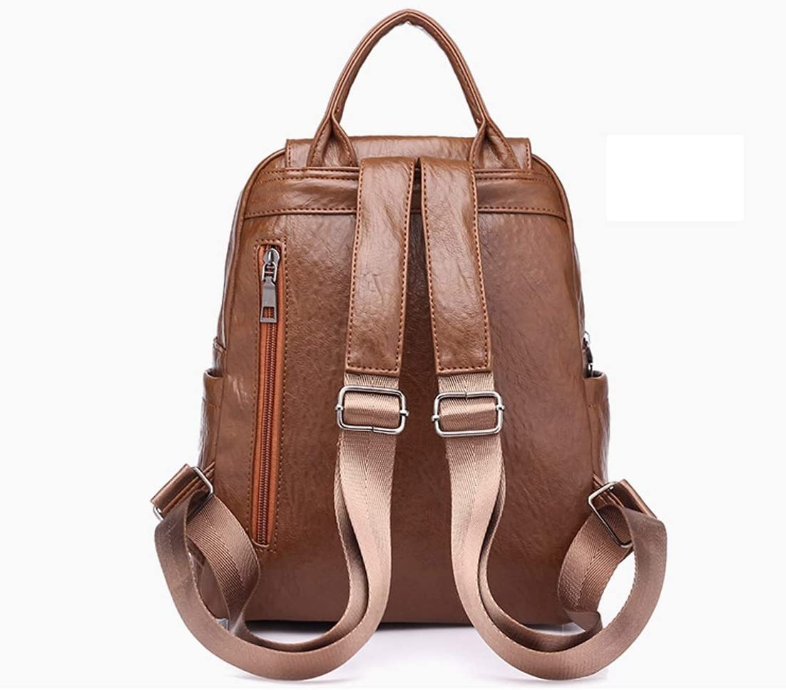 Travel Practical and Simple. Work School Outdoor Color : Black, Size : 25cm30cm15cm Haoyushangmao The Girls Versatile Backpack is Perfect for Everyday Travel Black//Brown Fashion and Leisure
