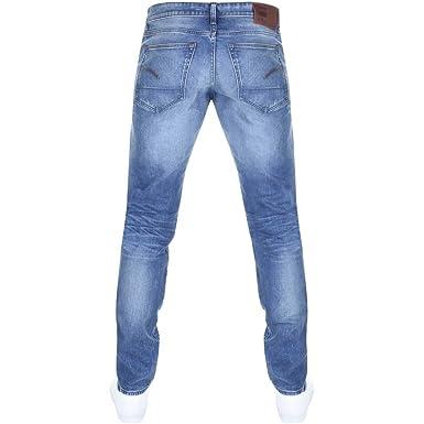 bc11ddca7ee450 Mens G Star Raw 3301 Slim Jeans Blue - 32W 30L: Amazon.co.uk: Clothing