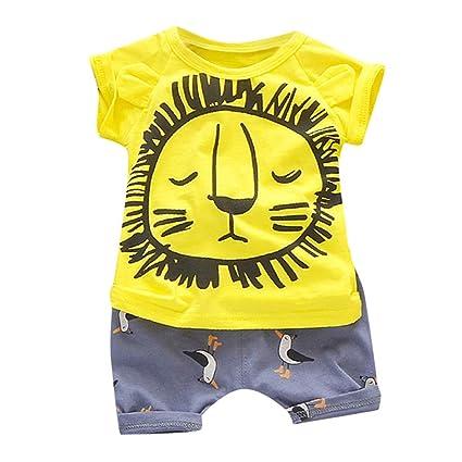 7d109f0e587c3 Amazon.com: ❤ Mealeaf ❤ Toddler Kid Baby Boy Girl Short Sleeve ...