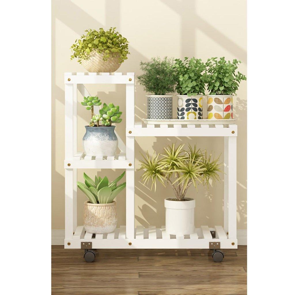 JHZWHJ Wooden Flower Rack Indoor Plant Stand Wooden Plant Flower Display Stand Wood Pot Shelf Storage Rack Outdoor (Color : A1)