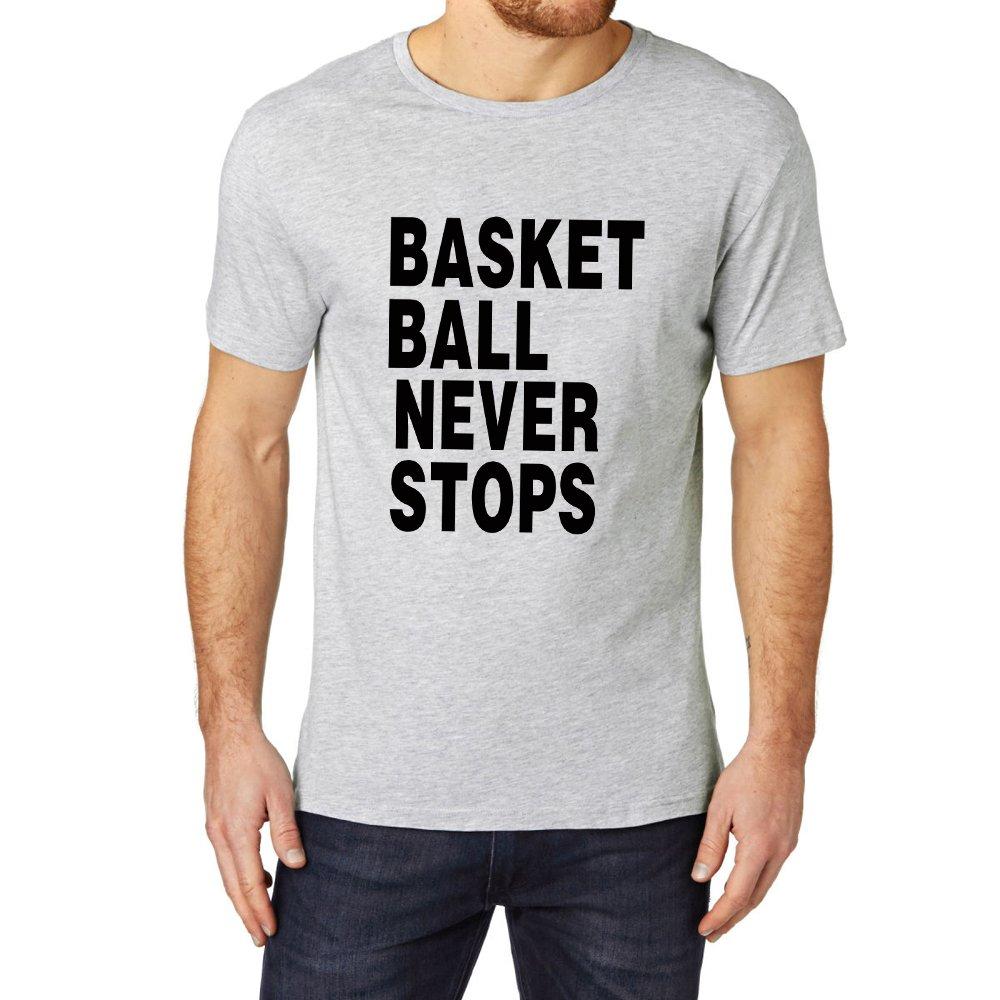 Loo Show S Basketball Never Stops Sayings Slogan T Shirt Tee