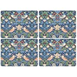 Strawberry Thief Blue by Morris & Co Placemats, Set of 4, 15.7'' x 11.7''