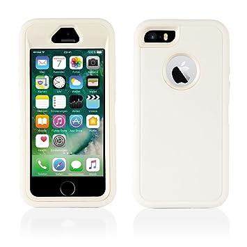 Carcasa iPhone 5, 5S, funda híbrida antigolpes para iPhone 5 ...