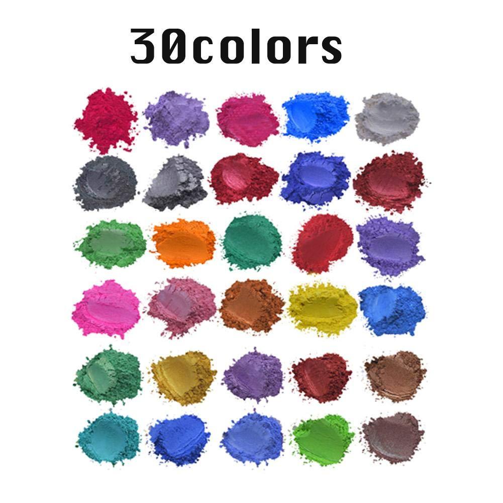 Polvo De Mica Tinte De Resina Epoxi Herramientas De Fabricaci/ón De Jab/ón Hechas A Mano Pigmentos En Polvo Sombra De Ojos Rubor Arte U/ñas Resina Joyer/ía Artista Proyectos De Artesan/ía 52 Colores
