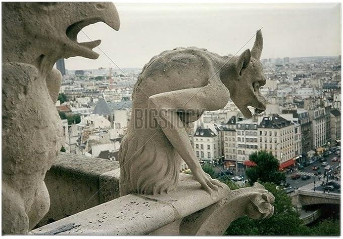 CafePress – Gárgolas en Notre Dame, Paris – Rectángulo Imán ...