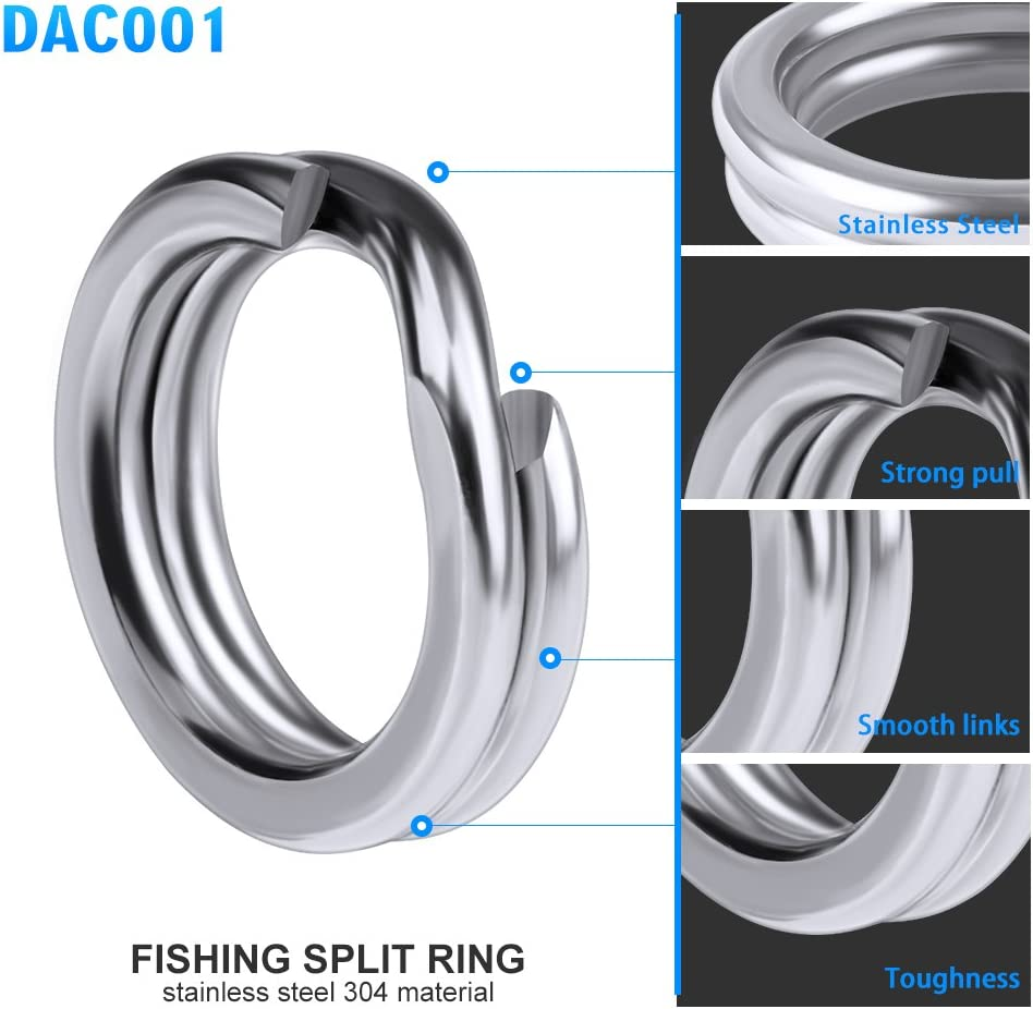 Great Strong Stainless Steel Split Rings Connectors Fishing Lures Bai*