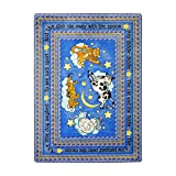 Joy Carpets Kid Essentials Infants & Toddlers Hey Diddle Diddle Rug, Blue, 5'4'' x 7'8''