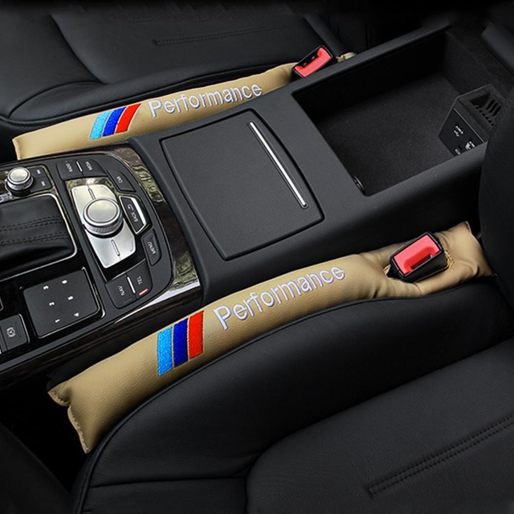 lot de 2 Garniture de Fente de Si/ège de Voiture Valuetom Seat Gap Tampon de Remplissage avec /Étiquette de Broderie AMG