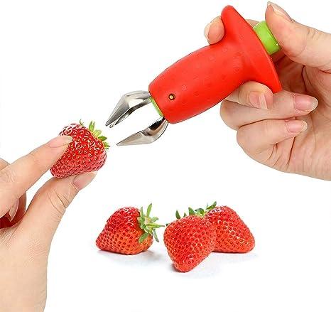Nice Strawberry Stem Leaves Huller Remover Removal Fruit Corer Kitchen Tool