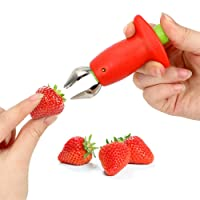 Strawberry Huller Cherry Pitters Portable Gadget Knife Fruit Vegetable Leaf Stem...