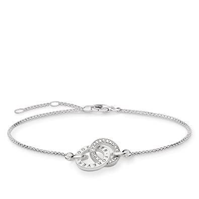 Thomas Sabo Bracelet Together Forever Zirconia of Adjustable Length 16.5-19.5cm