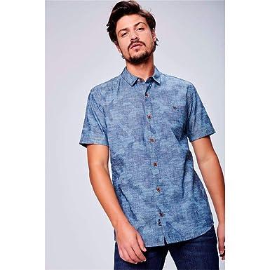 f86204610b Camisa Jeans de Manga Curta Ecodamyller: Amazon.com.br: Amazon Moda