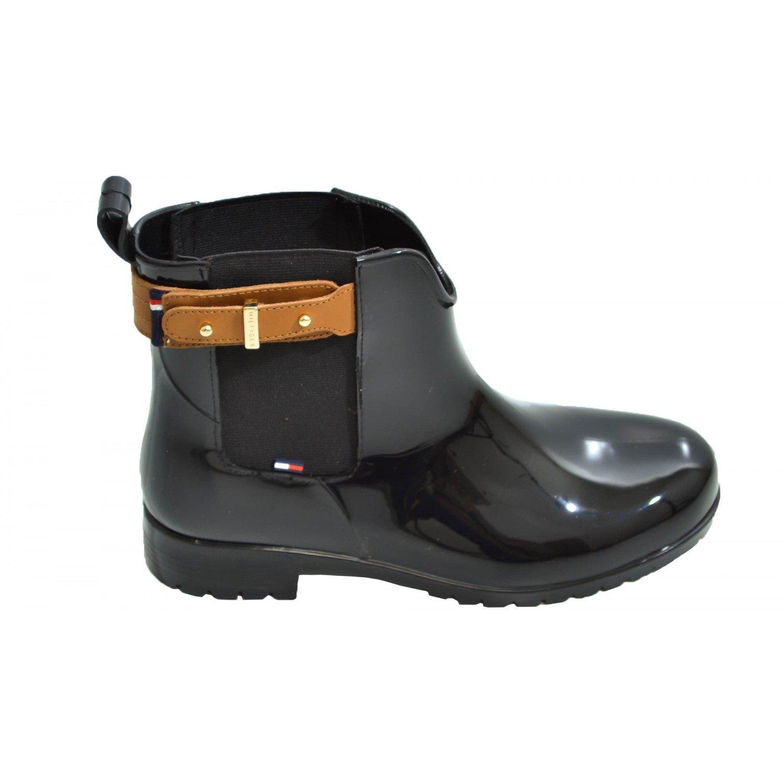 Tommy Hilfiger Oxley 6R, Botines para Mujer, Black/Cognac, 36 EU: Amazon.es: Zapatos y complementos