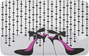 "Adowyee 20""x30"" Bath Mat Shoe High Heels Girl Sexy Stiletto Feminine Sketch Glamour Cozy Bathroom Decor Bath Rug with Non Slip Backing"