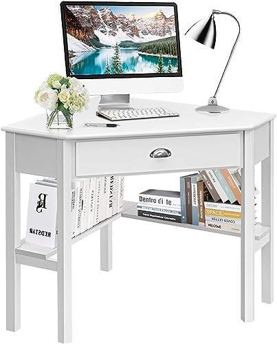 Tangkula White Corner Desk Review