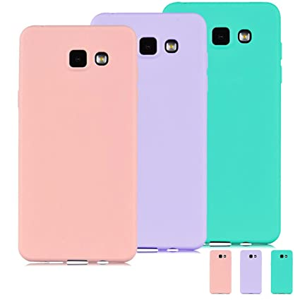 [3 Pieces] Funda Samsung Galaxy A3 2016 (A310) Carcasas Flexible TPU Silicona Mate Opaco Ultra Fina Ligero Gel Anti-Arañazos y Anti-Choque Bumper ...