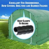 BenefitUSA Black Snap Clamp 7/8 inch x 1-1/2 Wide for 7/8 inch PVC Pipe Greenhouse Banner Frame Shelters, Pack of 10 (7/8 inch x 1-1/2 Wide)