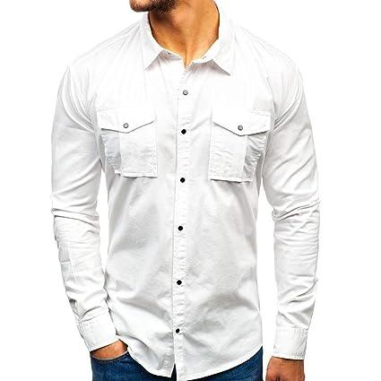 ZODOF camisa hombre camisas sport Nuevo Casual Comodo Moda Empalme ...