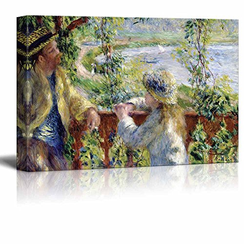 wall26 - by The Water or Near The Lake by Pierre-Auguste Renoir - Canvas Print Wall Art Famous Painting Reproduction - 24