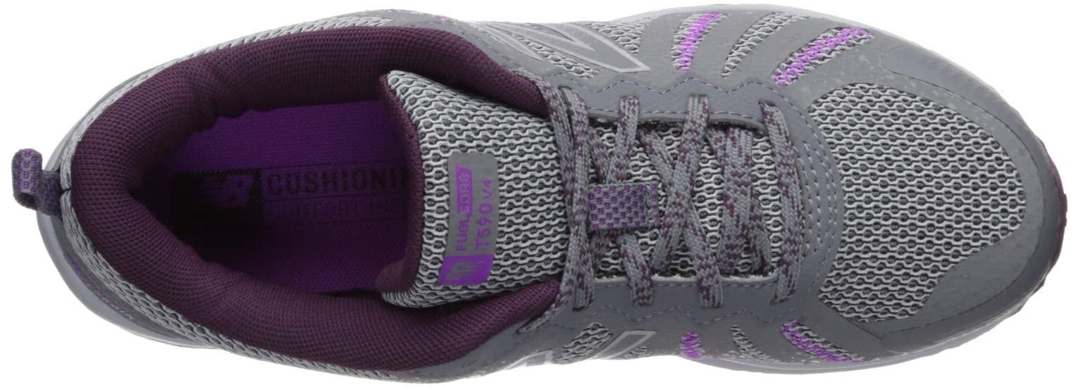 New Balance Women's 590v4 FuelCore Trail Running Shoe, Gunmetal/Dark Current/Voltage Violet, 5 B US by New Balance (Image #7)