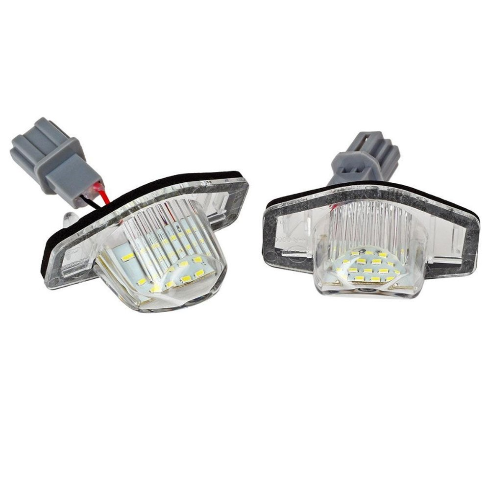 PolarLander 2 x 18SMD LED N/úmero de Placa de matr/ícula de luz Blanco