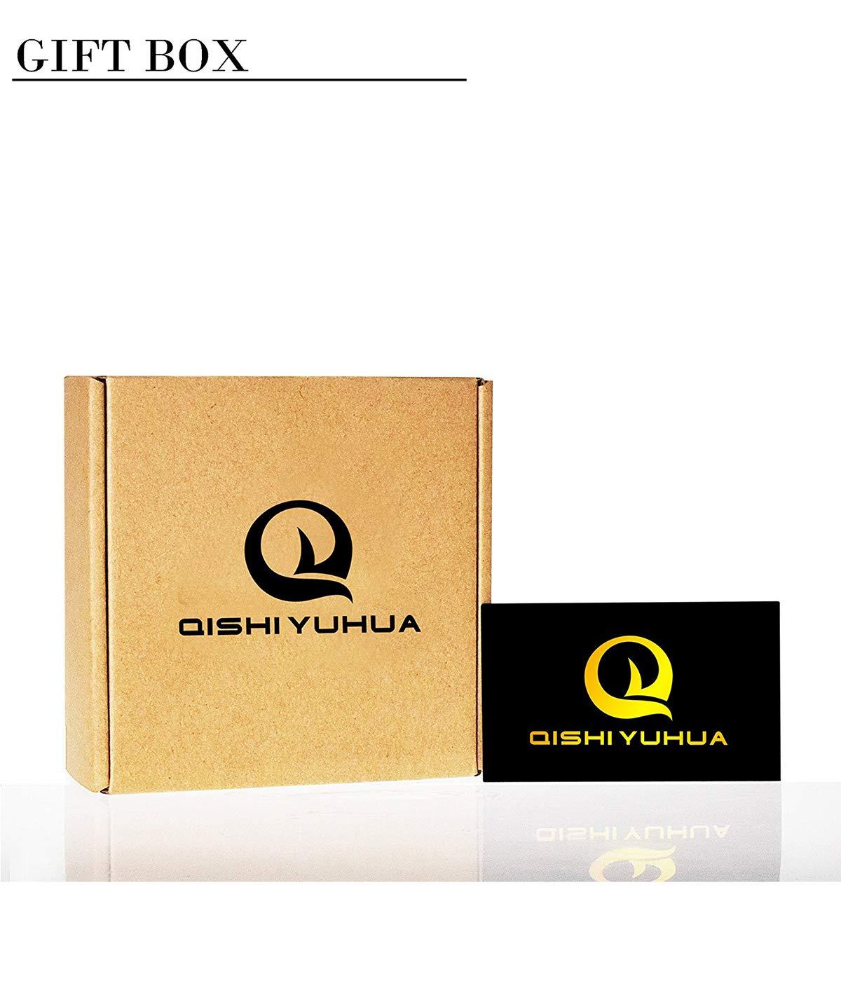 QISHI YUHUA Belt Men\'s Leather Ratchet Belt (Suitable for 20\