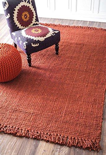 Handmade Eco Natural Fiber Chunky Loop Jute Terra Area Rugs, 3 Feet by 5 Feet (3' x 5')