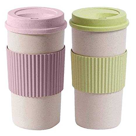 23e8f5e6625 Amazon.com: MyLifeUNIT Reusable Coffee Travel Mug with Lids, 15 Oz ...