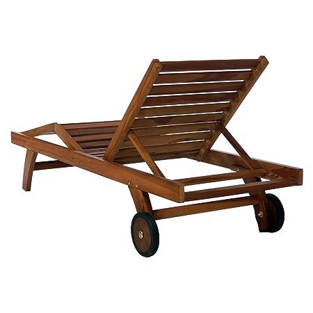 All Things Cedar Teak Chaise Lounge