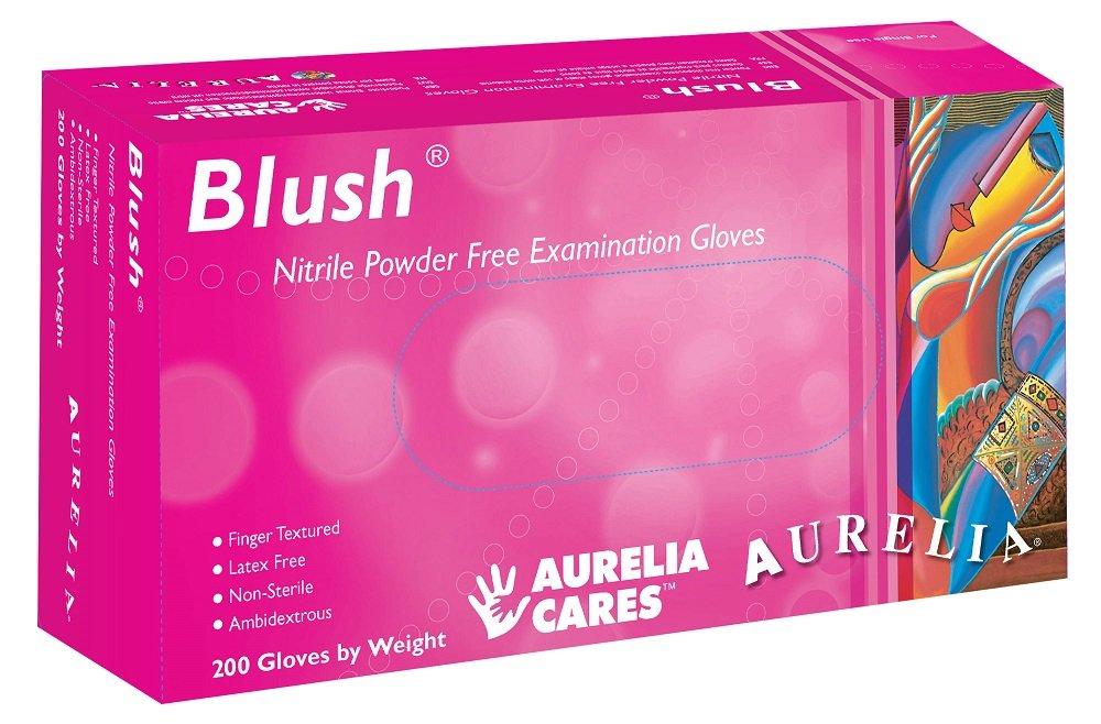 Supermax Lot de 78885 Aurelia Blush Gants en nitrile, sans poudre, XS, Rose (lot de 200) SUPL78885