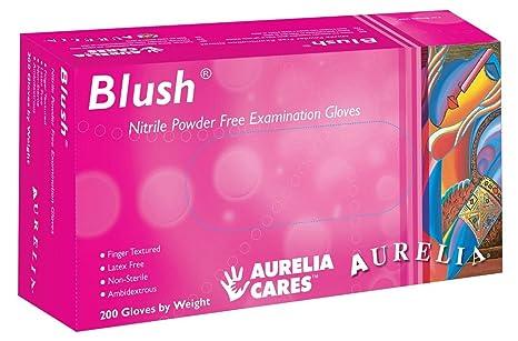 Supermax 78885 Aurelia Blush guantes de nitrilo, sin polvo, talla XS, color rosa
