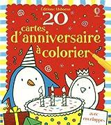 20 CARTES ANNIVERSAIRE A COLOR