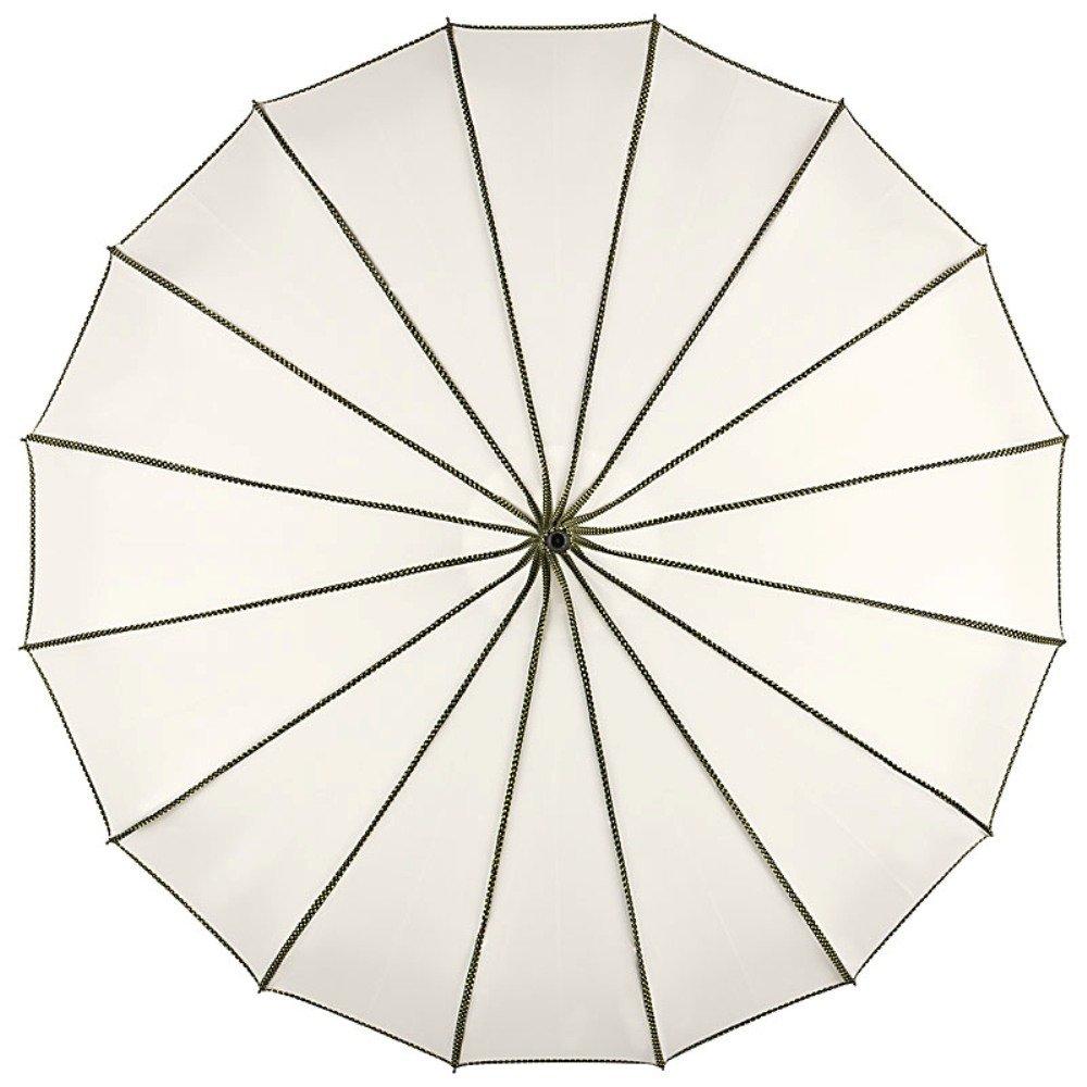 VON LILIENFELD/® Ombrello Donna Elegante Pagoda Parasole Justine crema