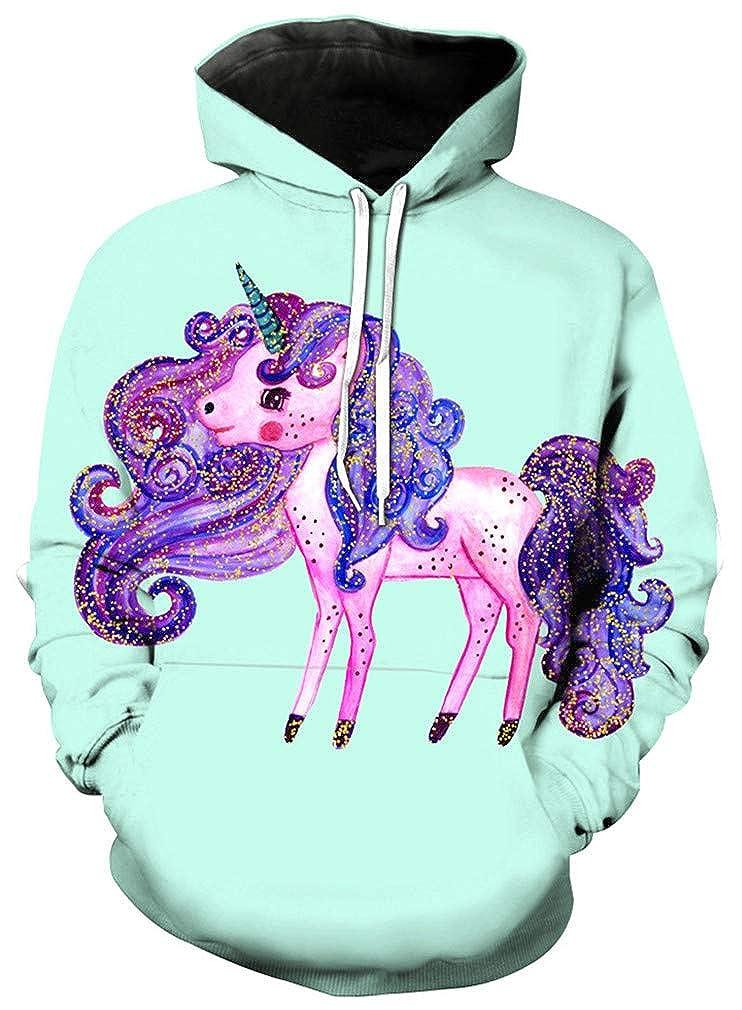 Ocean Plus Girls Unicorn Hoodie Rainbow Mermaid Hoody with Print Kids Girls Sweatshirt Jumper