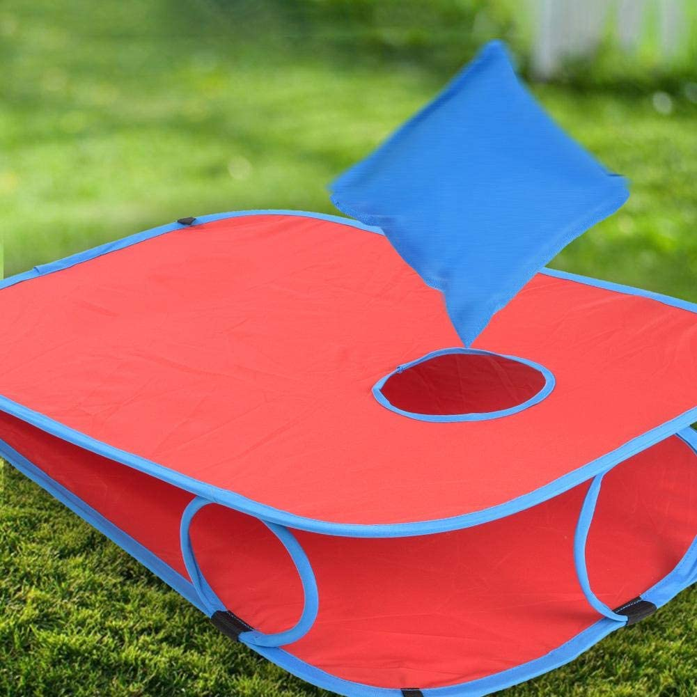 Ejoyous Bean Bag Throwing Game Toss Board Toy Kit Corn hole Sand Bag Bean Bag Throwing Bag Board for Kids Children Teens Adults Kids Cornhole Boards Throwing Game for Outdoor Indoor Party